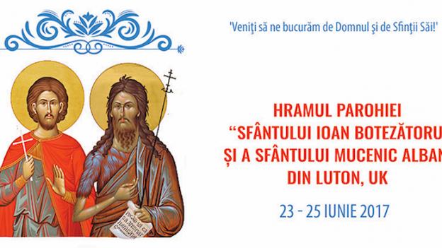 23-25 iunie 2017 – Hramul Parohiei Ortodoxe din Luton