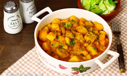 Rețeta săptămânii – Tocăniță de cartofi (de Post)