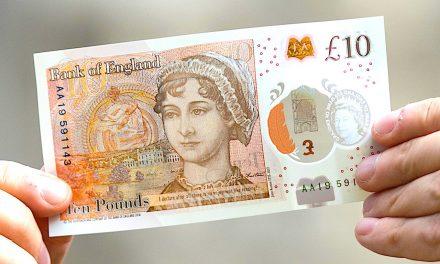 Noua bancnotă de £10 cu imaginea lui Jane Austen