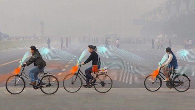 Bicicleta care curăţă aerul – Smog Free Bike